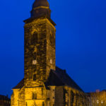 Abend, Architektur, Blaue Stunde, Deutschland, Gotha, Kirche, Landkreis Gotha, Langzeitbelichtung, Thüringen, Winter, architecture, blue hour, building, church, evening, germany, long exposure, thuringia