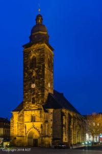 Margarethenkirche zur Blauen Stunde